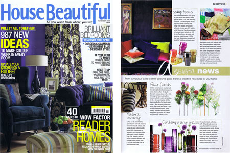 House Beautiful Magazine November 2009
