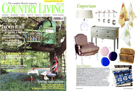 Country Living Magazine April 2008