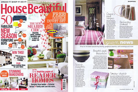 House Beautiful Magazine September 2011