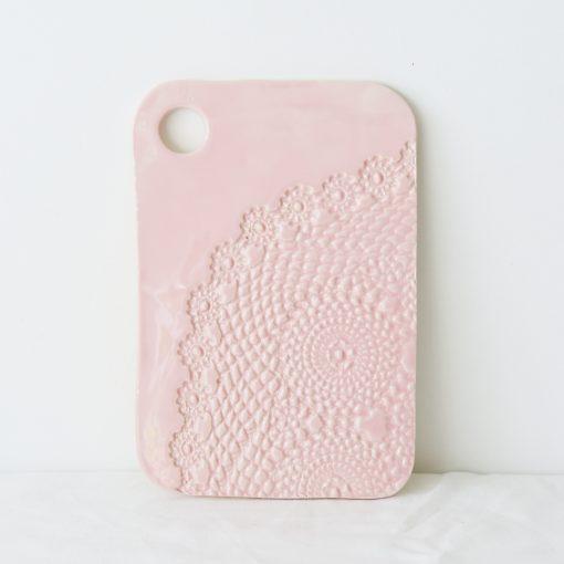 Blush Lace Ceramic Serving Board