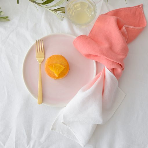Coral Hand Dyed Linen Napkin