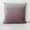 Blueberry hand dyed linen square cushion