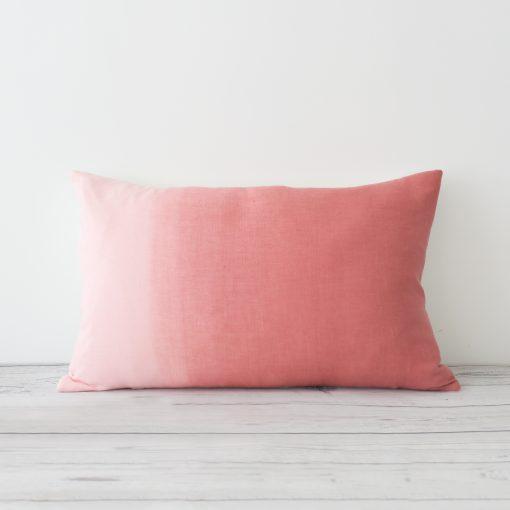 Marsala Hand Dyed Linen Rectangular Cushion