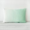 Mint Hand Dyed Linen Rectangular Cushion