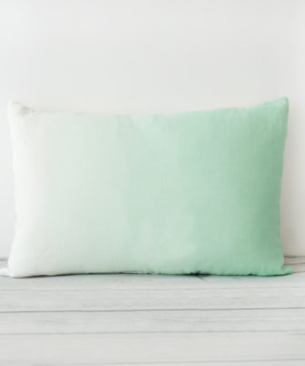 Mint Hand Dyed Linen Rectangular Cushion