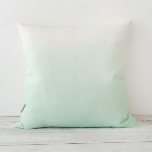 Mint Hand Dyed Linen Square Cushion