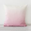 Rose hand dyed linen square cushion