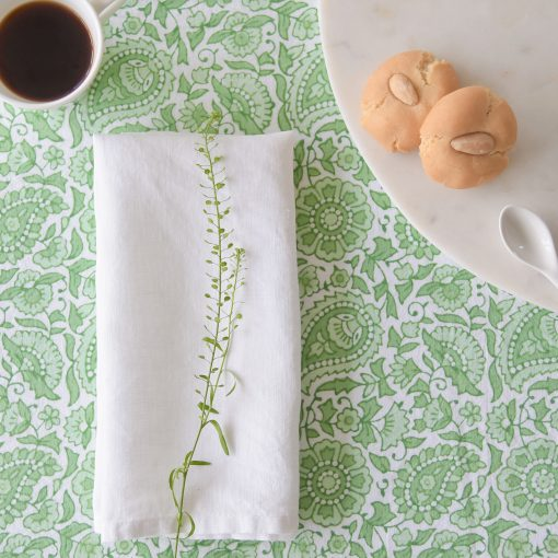 White Linen Napkin Set