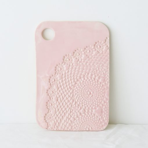 Blush Lace Ceramic Serving Board