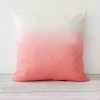 Coral Hand Dyed Linen Square Cushion