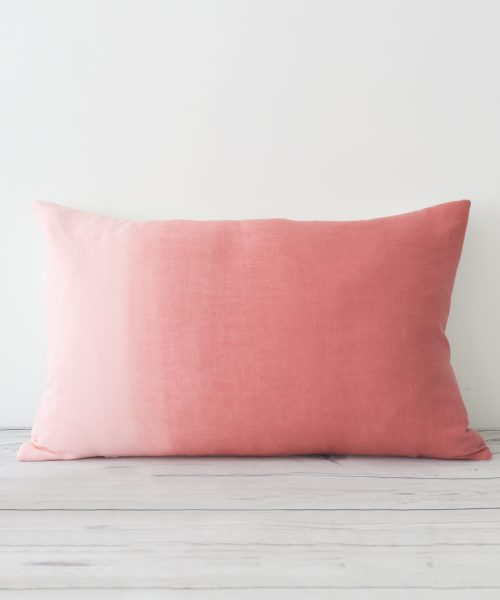 Marsala Hand Dyed Linen Rectangular Cushion