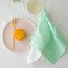 Mint hand dyed linen napkin