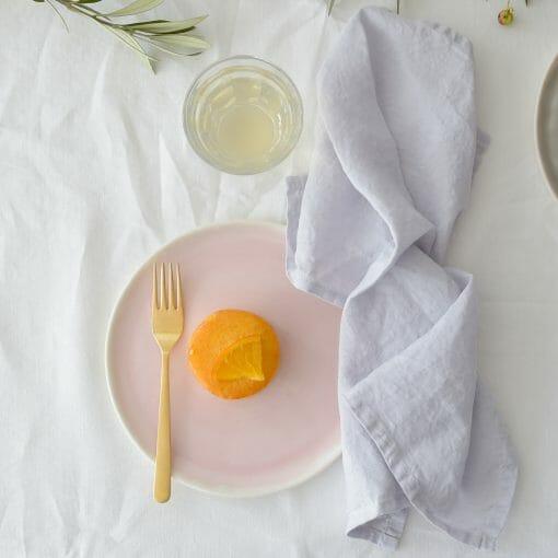 Silver grey linen napkin set